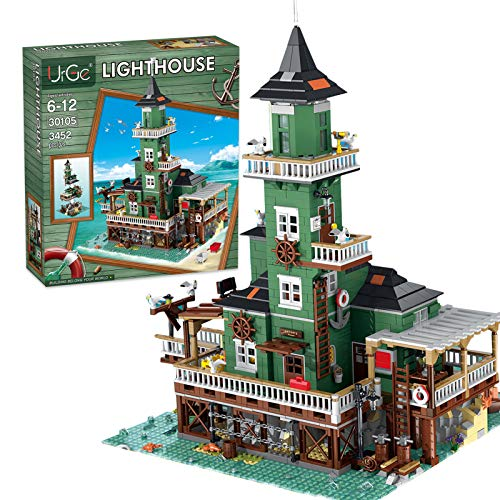 TopBau Leuchtturm - Kit de construcción modular de casa de construcción, 3452 piezas para la playa Street View compatible con Lego 21310 Ideas