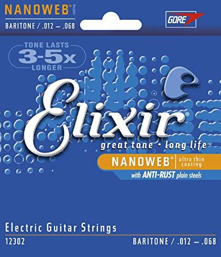 Elixir snaren voor elektrische gitaar. Baritone 0.012-0.068 Baritone | 12302