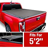 MaxMate Soft Tri-Fold Truck Bed Tonneau Cover Compatible with 2015-2021 Chevy Colorado/GMC Canyon | Fleetside 5'2' Bed