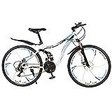 GQFGYYL-QD Mountainbike mit Verstellbarem Sitz und Stoßdämpfung, Doppelscheibenbremse Mountainbike...