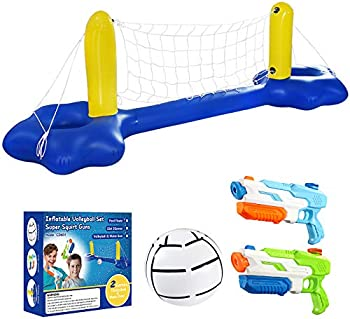 Inflatable Pool Volleyball and Water Guns Set