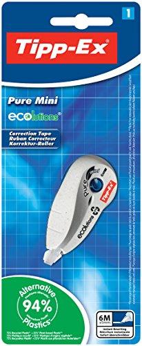 Tipp-Ex Korrekturroller ECOlutions Pure Mini, 6 m x 5 mm, Blister à 1 Stück