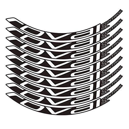 HUANGRONG Motorrad-Aufkleber Fahrradaufkleber Mountainbike Roval Control SL29 Zoll 25mm Breite Felgenradsatz Farbaufkleber MTB Rim-Abziehbilder Felgen-Aufkleber (Color : White)
