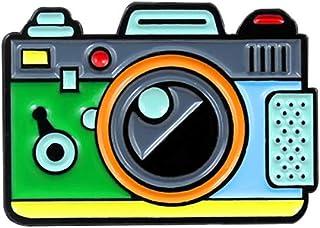 Pulabo Broches de dibujos animados Multicolor para cámara insignia collar solapa broche pin ropa joyería decoración resist...