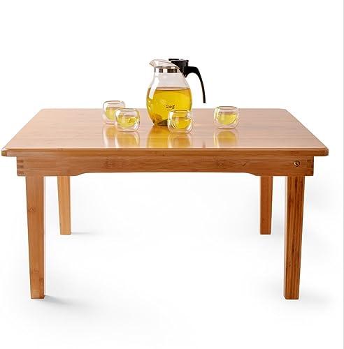 NAN Table Basse Pliante Table Basse Table carrée Table Balcon Bureau Table Multifonctions (Taille   80  80  37CM)