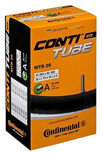 Continental Schrader Válvula MTB 26, 26 x 1,75 / 2,50 pulgadas 47 / 62-559 AV, 40 mm, Diámetro de la válvula: 8.5 mm ⭐