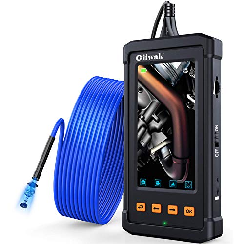 Oiiwak Industrial 1080p Endoscope Snake Camera w/ 4.3
