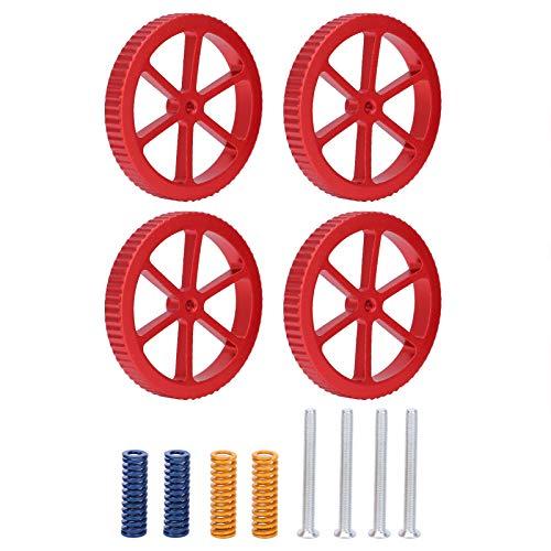 Handfest angezogene Nivelliermutter für 3D-Drucker 100% brandneues Rost-3D-Druckernivellierungskit mit langer Lebensdauer für 3D-Drucker-Heißbett/Plattform