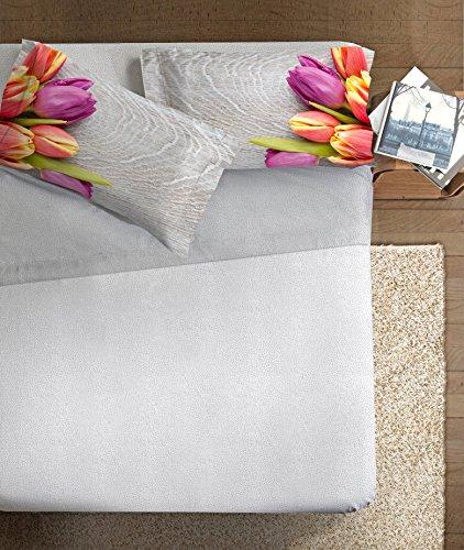 Ipersan Completo Letto Fine Art Matrimoniale, lenzuola 100% Cotone, federe con stampa digitale fotografica Dis. Tulipani