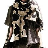 DELEY Otoño Invierno Mujer Señora Bufandas Vaca Patrón Moda Suave Largo Fulares Con Flecos Ropa Accesorios Capas Mantas Chales Estolas