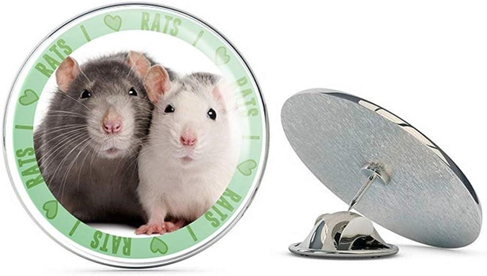 I Love Rats Round Metal 0.75