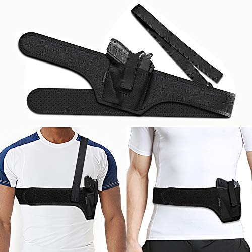 HANDSONIC Deep Concealment Shoulder Holster, Universal Underarm Gun Holster for Men and Women, Fits Subcompact and Compact Pistols (Right, 45')