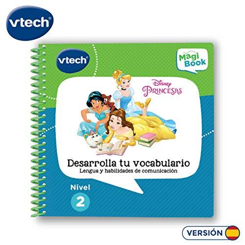 VTech- Libro para Magibook Princesas Disney, Desarrollo del Vocabulario y Habilidades de comunicación con más de 40 Actividades y Cientos de interacciones, Nivel 2, 3-6 años (3480-481822)
