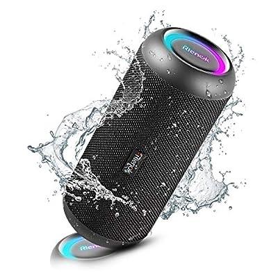 RIENOK Portable Bluetooth Speaker 30W Dual Pairing True Wireless Stereo HD Sound IP67 Waterproof Outdoor Sport Speakers Bluetooth 5.0 for Home Party