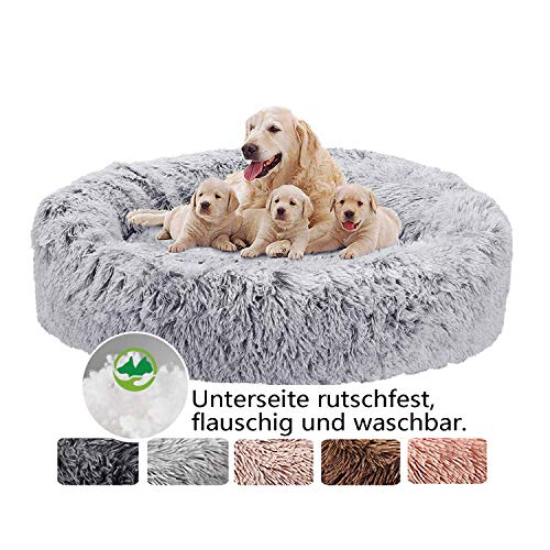 Hundebett Grosse Hunde, Flauschige Hundekissen, Premium Orthopädisches Haustierbett, kuschelige flocke Hundesofa, Hundekörbchen waschbar für mittel und große Hunde