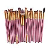 shentaotao Pro Lana Compone El Cepillo Set 20 Piezas Pincel De Maquillaje Herramientas De Maquillaje Toiletry Kit (Oro 2)