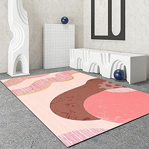 Alfombra Rectangular De La Serie Naranja Rosa Impermeable Antideslizante Lavable Tapete De Puerta Engrosado Tapete para Ventana Salediza Adecuado para Oficina Dormitorio Hotel