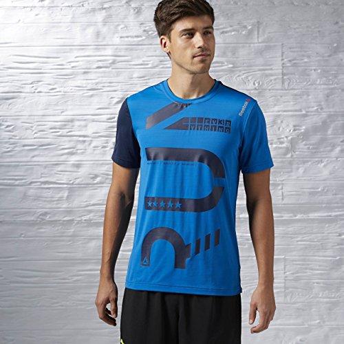 Reebok OSR SS AC tee - Camiseta para Hombre, Color Azul, Talla M