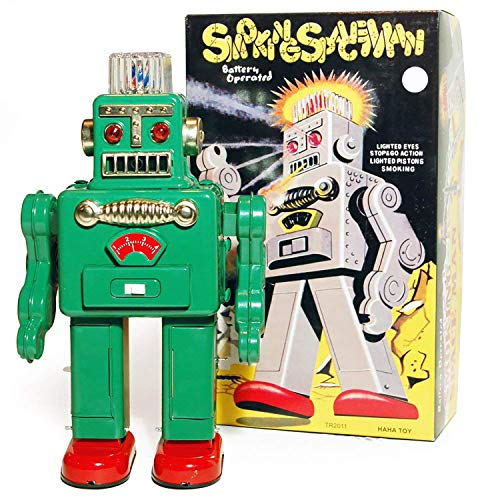 WATSONS Robot Fumeur - Retro Tin collectables Ornement - Vert