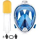 Buceo Cubierta De La Cara De Snorkel Cara Visera Careta De Buceo De Cara Visera para El Hombre Mujer De Mediana S/M Azul