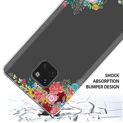 Handyhülle Kompatibel mit Huawei Mate 20 Pro Hülle,Huawei Mate 20 Case TPU Transparent Silikon Flexibel Ultra dünn Weicher Bumper Anti-Scratch Case für Mate 20 Lite Hülle (Huawei Mate 20, 6) - 6