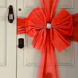 Oaktree UK Large Christmas Door Window Bow 4 Colours Xmas Baby Shower Wedding (Red)