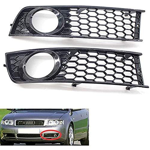 MADAENMJ Niebla Light Mail, Frontal Bumper Honeycomb Fog Light Light LIRS Grille Prill FUT FIT FIT para Audi A4 B6 2002-2005