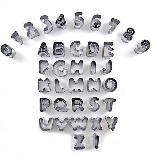Ausstecher Ausstechformen Alphabet Buchstaben Zahlen für Kuchen-Set