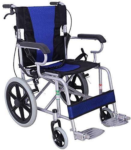 HYY-YY Silla de ruedas de transporte ligero plegable silla de ruedas portátil silla de viaje de aleación de aluminio pinchazos colisión de transporte silla de ruedas