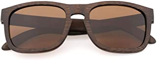LUKEEXIN Fashion Vintage Bamboo Wood Sunglasses Lightweight for Men & Women (Color : Brown)