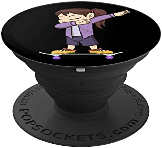Skateboarding Teenage Girl on Skateboard Gift for Skater  PopSockets Grip and Stand for Phones and Tablets