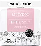 Couches LILLYDOO Taille 1 (2-5 kg) - 205 couches - Pack 1 mois