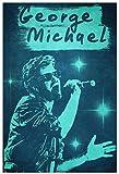 Sunsightly Musikplakat George Michael Coverretro Wandkunst