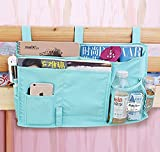 8 Pockets Hanging Bedside Caddy Organizer for Dorm Bedroom Bunks Bed TV Remote Controller Holder Baby Cot Stroller Nursery Diaper Cup Holder Organizer Pushchair Storage Bag Magzine Cellphone Case