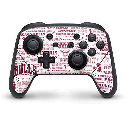 Skinit Decal Gaming Skin Compatible with Nintendo Switch Pro Controller - Officially Licensed NBA Chicago Bulls Historic Blast Design