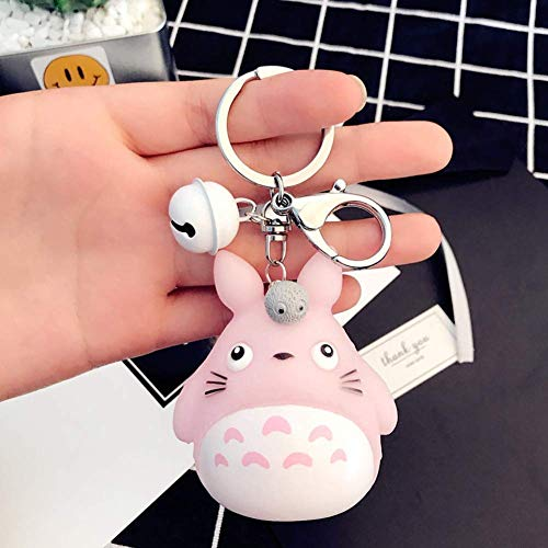 AMA-StarUK36 Totoro Poupée Bande-Dessinée Porte-Clé Dégagement Rapide Amovible Clé Anneaux - 04