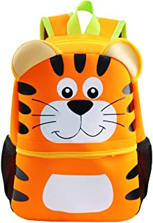 Toddler Backpack by Fenrici for Girls, Boys, Cute Zoo Animal Bag, Insulated Backpack for Kids, 12