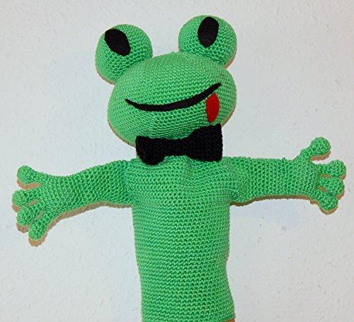 Häkelanleitung Frosch Handpuppe