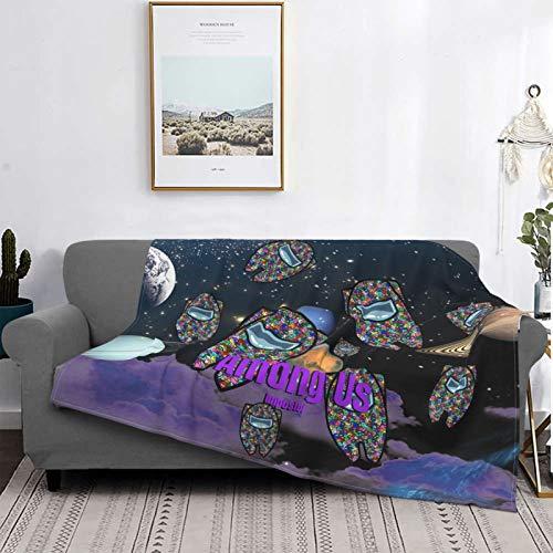 vvv123 Among Us Manta de franela de microfibra súper suave para cama de picnic
