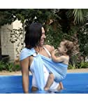 kiskise banda para portabebés L 'agua sack' nsling Azzurra