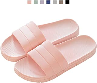 6d38f9c2fd7aea FLY HAWK Women s Men s Household Slippers Casual Non-Slip Bathroom Unisex  Slippers Lightweight Sandal Indoor Outdoor