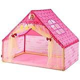 XinQing-Tienda Tienda de Juegos de niños Sala de Juegos de Bricolaje Habitación de Juguetes de plástico Regalos de bebé de Espacios Grandes de Interior (Rosa 106 * 133 * 90.5cm Embalaje de 1)