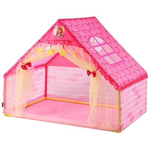 New LIAN Children Play Tent DIY Game Room Plastic Toy Room Indoor Big Space Baby Gifts (pink 1061339...