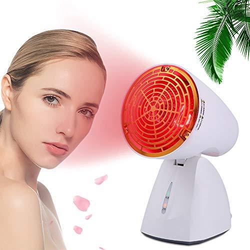 EFGSbed Rote Light Rotlichtlampe, 100W Rotlichtlampe, Rote Light Beauty Licht, LED Rote Bulb Massage, 45 ° Verstellbarer, Rotlicht Lampe Für Anti-Aging, Schmerzlinderung