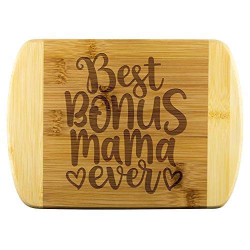 Stepmom Cutting Board and Stepmom Stepmother Mama Chopping Board for Mother's Day Birthday Thanksgiving Christmas Gift, Flexible Cooking Board And Kitchen Decor Present For Best Bonus Mama Ever
