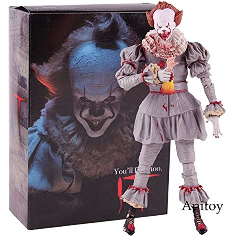 PAPBI Pennywise Figure 6 inch Hot Toys IT 2017 Ultimate Scale Action Figures Horror Mini Model Doll Exclusive Toy Halloween Christmas Collectible Collectable Gifts Collectibles Gift for Kids Baby