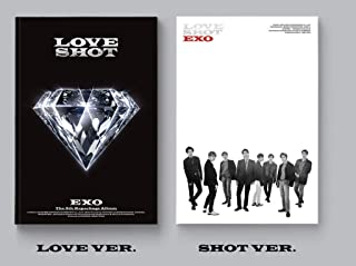EXO - [Love Shot] 5th Repackage 2 Ver Set CD+72p Booklet+1p PhotoCard+Tracking K-POP Sealed