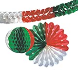 Kogler Nationen Deko-Set in Tasche, Karton, Papier, grün/weiß/rot, Einheitsgröße
