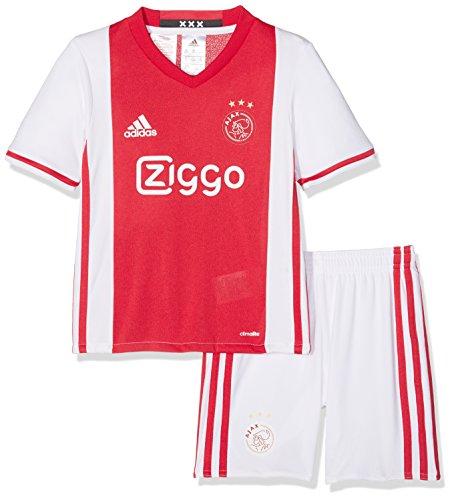 adidas H Mini Camiseta 1ª equipación AJAX 2015/16, Blanco/Rojo, 3-4 años