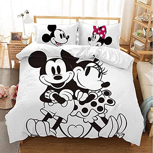 Aatensou Juego de ropa de cama lavable con dibujos animados, 100% poliéster (A7,220 x 240 cm/80 x 80 cm)
